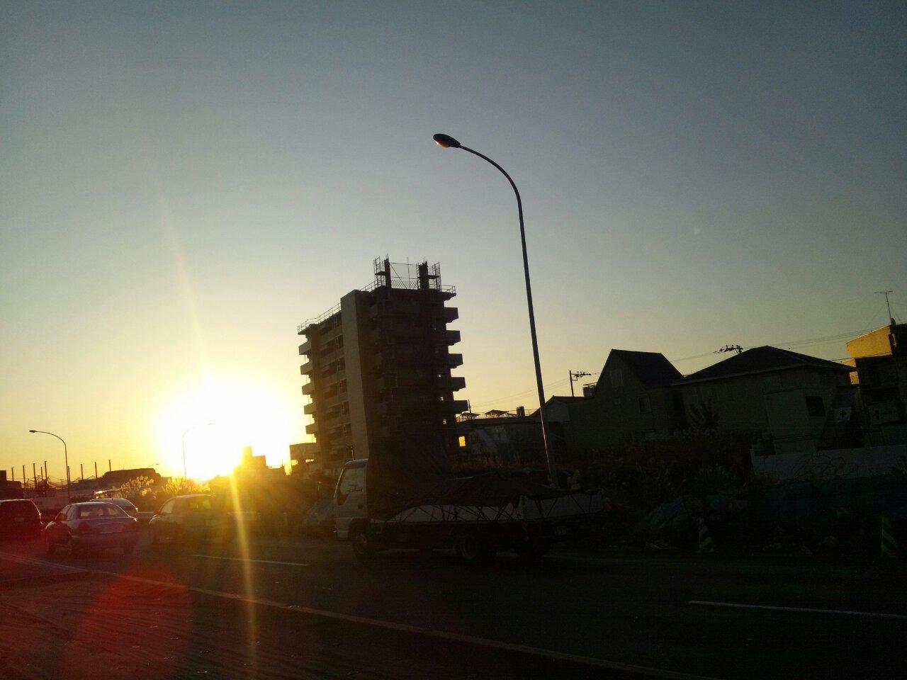 南町田の朝焼け